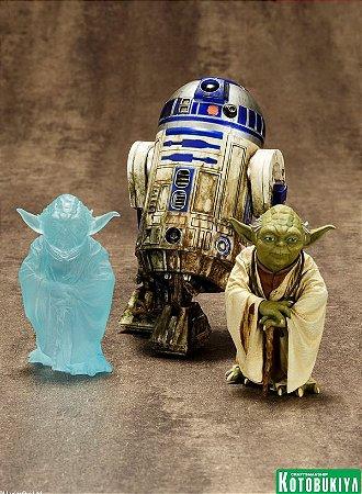 Star Wars Yoda & R2-D2 Dagobah Pack - ArtFX+ Statue