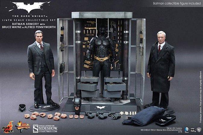 Hot Toys : BATMAN ARMORY BRUCE WAYNE E ALFRED 1:6