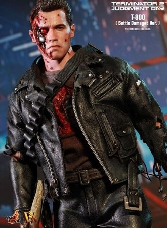Terminator 2 : T-800 Battle Damage : Special Edition - DX 13 - Hot Toys