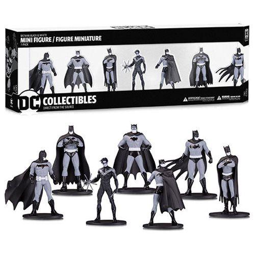 Batman Black and White Mini-Figure 7-Pack Box Set #1