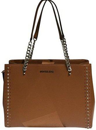Bolsa Michael Kors New Ellis Large Luggage Leather Tote