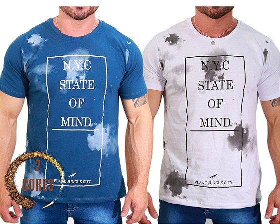 Camiseta 100% Algodão Manga Curta State of Mind - Disponível em 2 cores