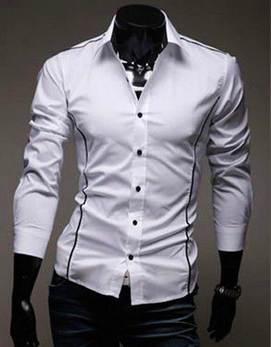 be5d9d1e08bcb Camisa Slim Fit Social MOD J Devivo BRANCA