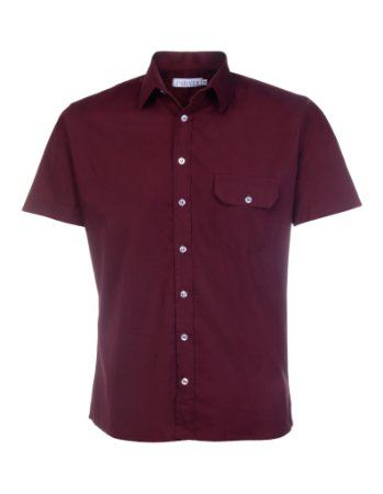 CAMISA SLIM FIT SUMMER MANGA CURTA - VINHO