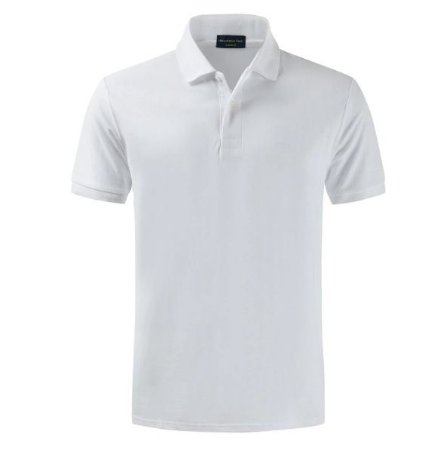 Camiseta Polo Spring Slim Fit  Manga Curta - BRANCA