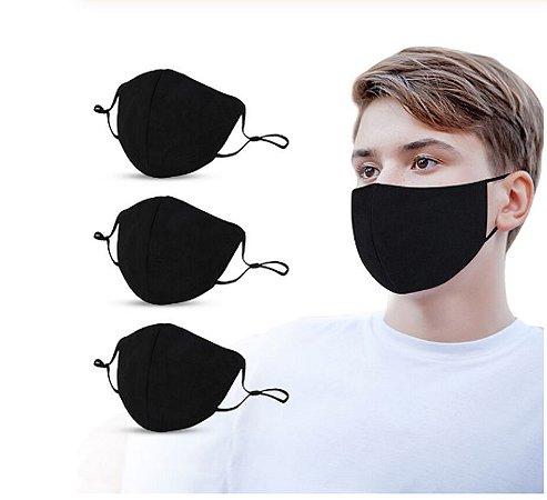 Kit Com 2 Máscaras De Tecido Dupla Proteção Lavável - 2 CORES