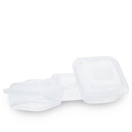 KIT 3 Potes Plástico Plasútil 570ml  CLICK/TRAVE- Anti-Bactericida
