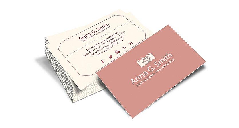 Cartão de Visita - Formato 9x5 cm - Papel Couche 300gr - 4x4 Cores - Laminação Fosca