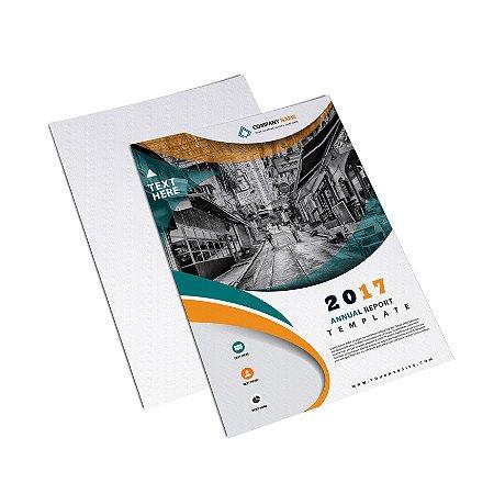 Flyer Panfleto - Formato 10x15 cm - Papel Couche 115gr - 4x0 Cores
