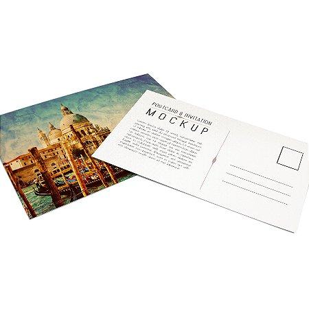Cartão Postal - Formato 10x15 cm - Papel Couche 300gr - 4x4 Cores - Verniz Reserva