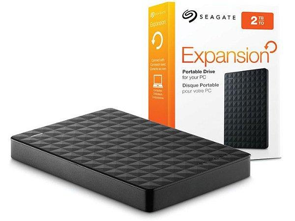 Hd Externo Seagate Expansion 2.5 2tb Usb 2.0/3.0 de bolso