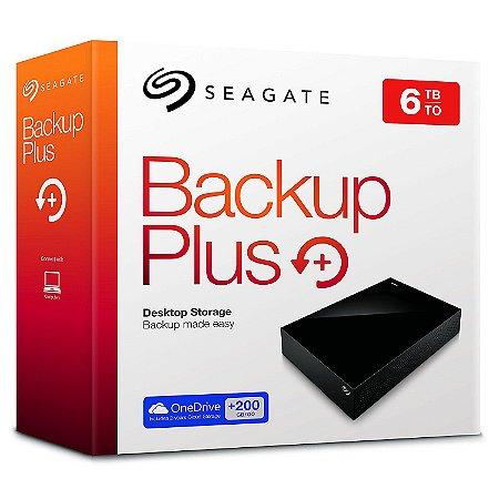 Hd Externo Seagate Backup Plus 3.5 6tb Usb 3.0