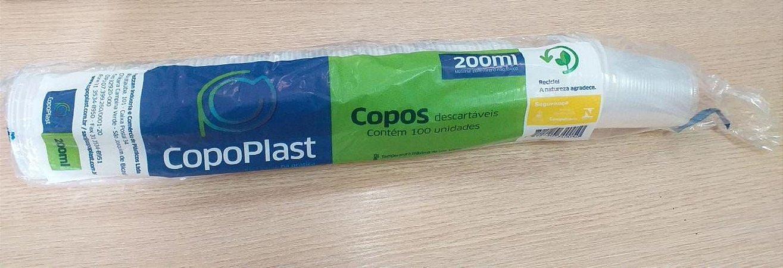 COPO COPOPLAST 200ML C/100 TRANSPARENTE