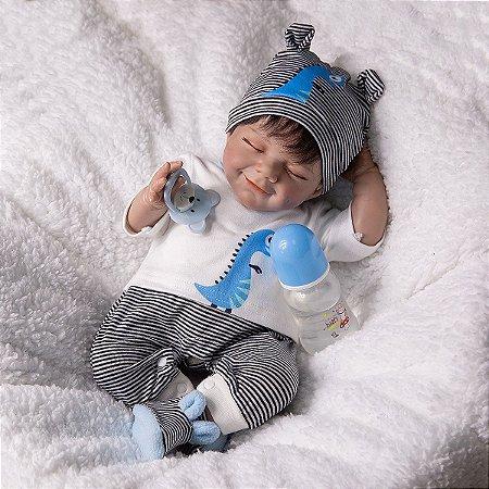 Bebê Reborn Kit April inteiro em silicone