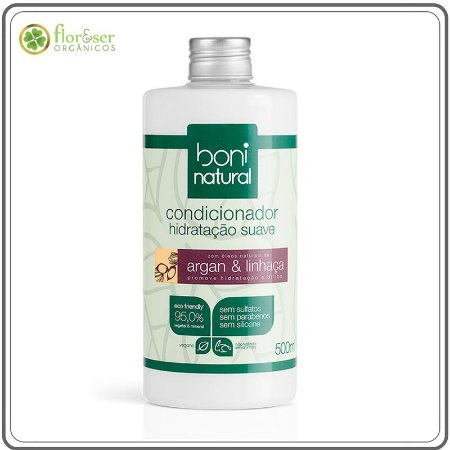 Condicionador Natural Boni Argan e Linhaça 500ml