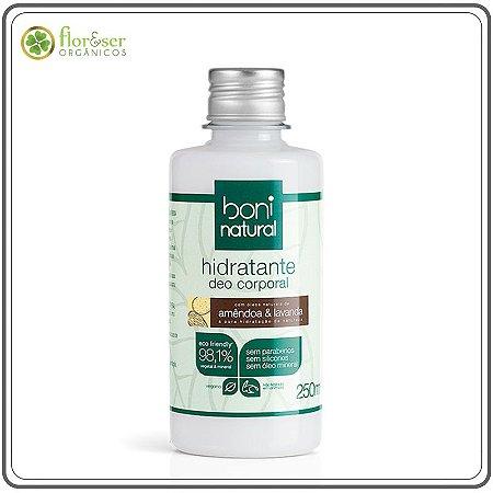 Hidratante corporal Natural Amêndoa e Lavanda 250ml