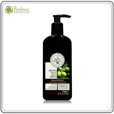 Shampoo Natural de Oliva com Argan Multivegetal - 240ml