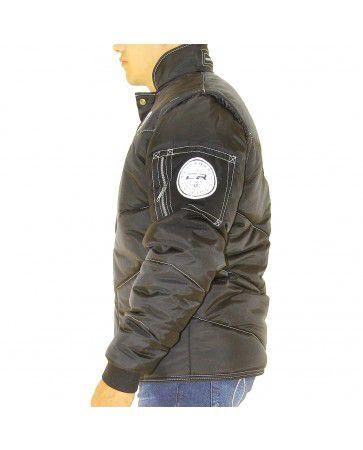 Jaqueta de Frio em Nylon  - Califórnia Modelo Refletivo Preta