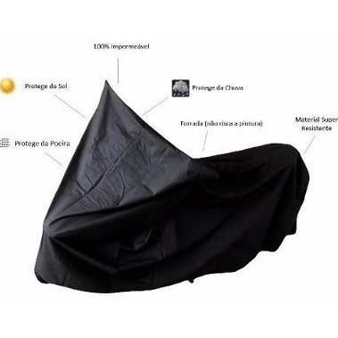 Capa protetora com forro para moto - Preta