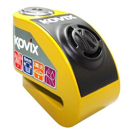 Trava de Disco com Alarme Kovix KD6 - Amarela