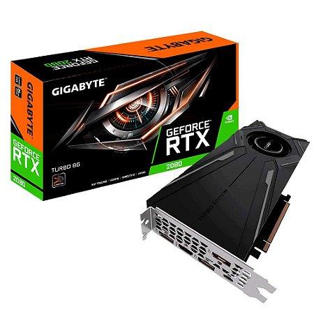 Placa de Vídeo VGA Gigabyte NVIDIA GeForce RTX 2080 Turbo OC, 8G, GDDR6, 256 Bits, PCI-E 3.0 - GV-N2080TURBO OC-8GC