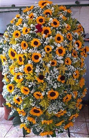 Coroa de Flores Grande de Girassol