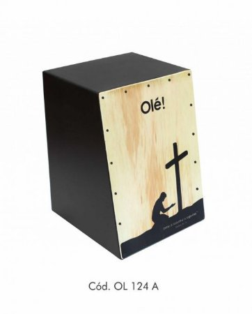 Cajon Acústico Cajon Percussion Olé OL-124