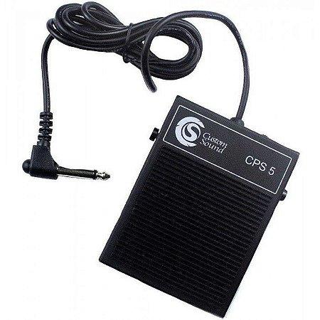 Pedal de Sustain Custom Sound CPS-5 Preto