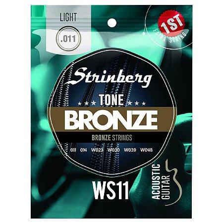 Encordoamento Violão Aço Strinberg WS11 Bronze 011 Leve
