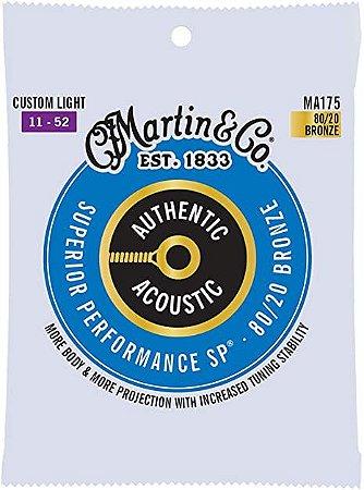 Encordoamento Violão Aço Martin Phosphor Bronze 011 Custom Light