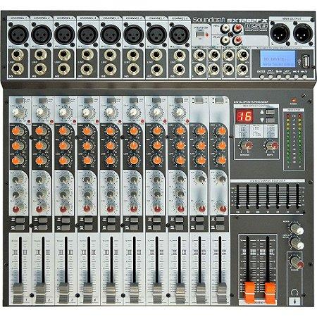 Mesa de Som Soundcraft Signature  SX1202FX 12 Canais USB
