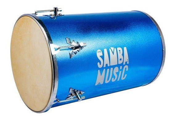 Tantan Phoenix Samba Music Madeira Revestida PVC 70x14 Blue Sparkle