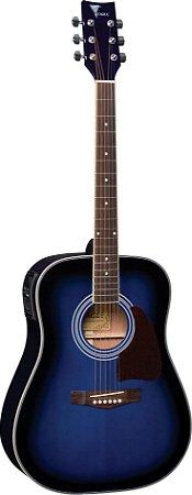 Violão Eletroacústico Folk Eagle CH-887 Blue Sunburst