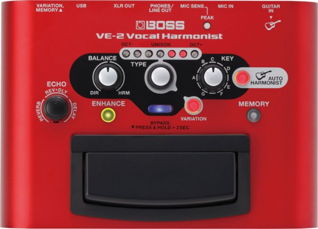 Pedal para Voz Boss Ve-2 Vocal Harmonist