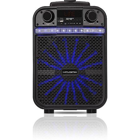 Caixa Multiuso Portátil Hayonik GO!Power 100 20W RMS Bluetooth/MicroSD/USB/FM c/ Bateria