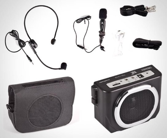 Kit Professor Portátil Amplificador de Voz + Microfone Headset + Microfone de Mão Supervoz II TSI 1210