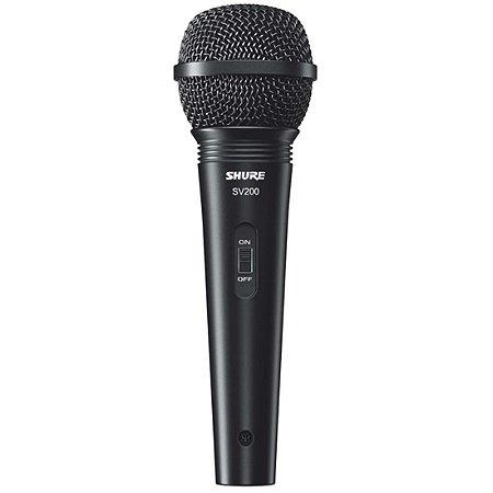 Microfone Shure SV-200 com Cabo