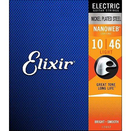Encordoamento Guitarra Elixir Nanoweb Light 10-46
