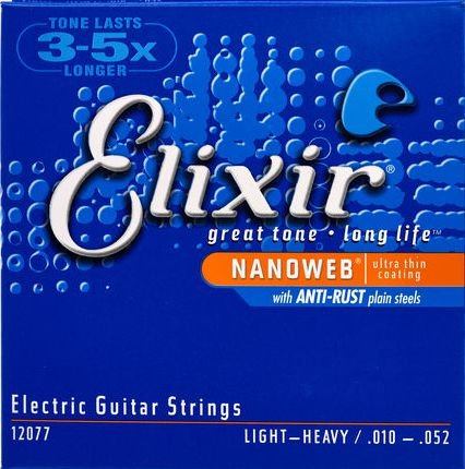 Encordoamento Guitarra Elixir Nanoweb Light-Heavy 10-52