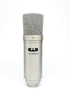 Microfone CAD Condensador de Estúdio USB GXL2400