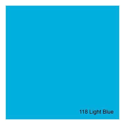 Gelatina para Refletores Rosco E-Colour 118 Light Blue