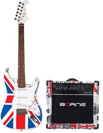 Combo Inglaterra Guitarra Eagle STS001 UK + Amplificador Borne G30