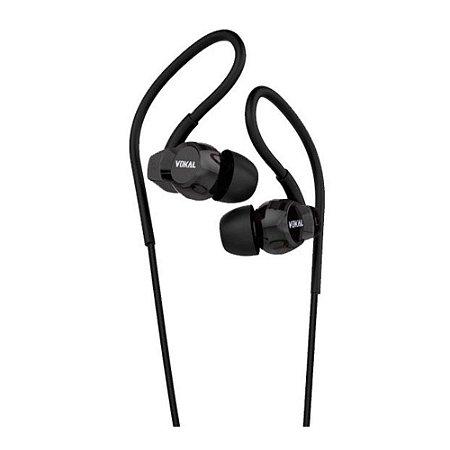 Fone de Ouvido In-Ear VOKAL E20 Preto