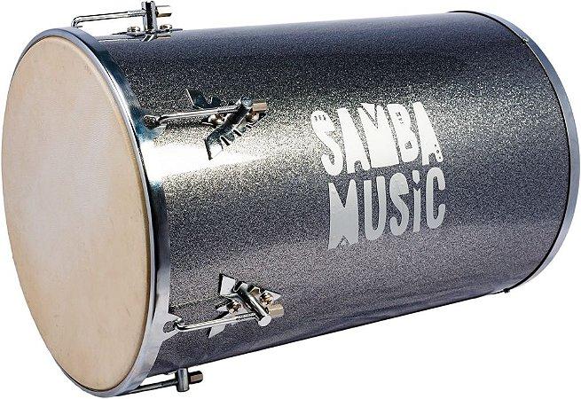 Rebolo Phoenix Samba Music Madeira Revestida PVC 50x12 Silver Sparkle