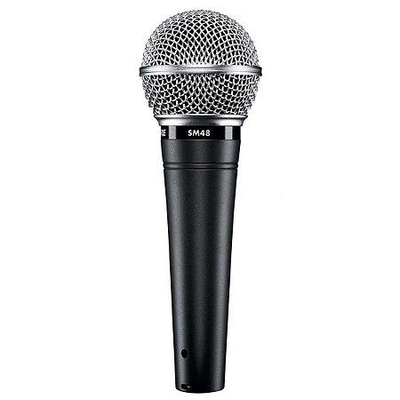 Microfone Shure SM-48 LC Com Fio