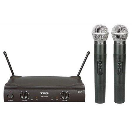 Microfone Tag Sound TM-559B Duplo Sem Fio