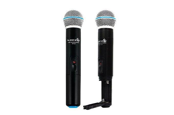 Microfone Lyco UH-02 MM Mão Duplo Sem Fio