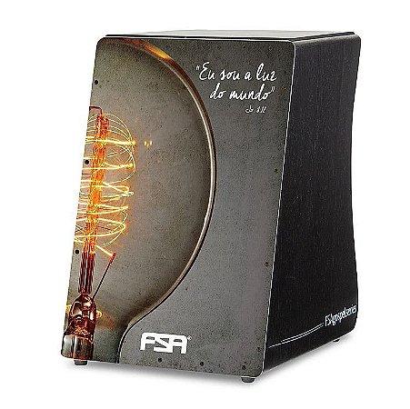 Cajon Eletroacústico FSA Gospel Luz FG1510