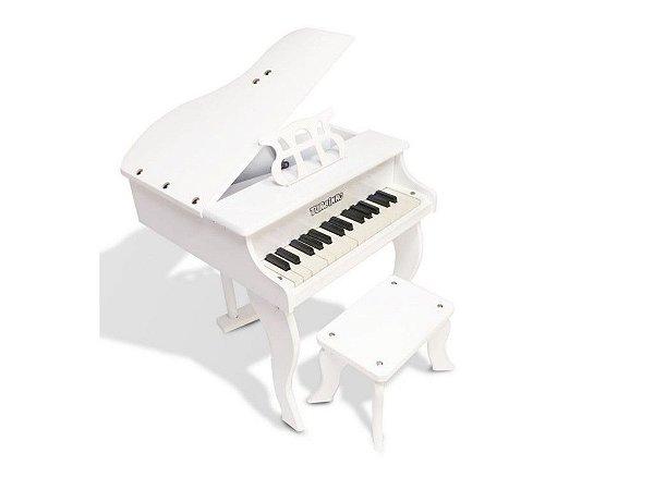Piano de Cauda Turbinho Infantil 30 teclas Branco