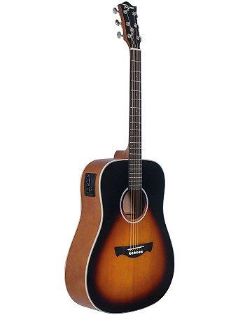 Violão Eletroacústico Folk Tagima Woodstock TW-25 DS Sunburst
